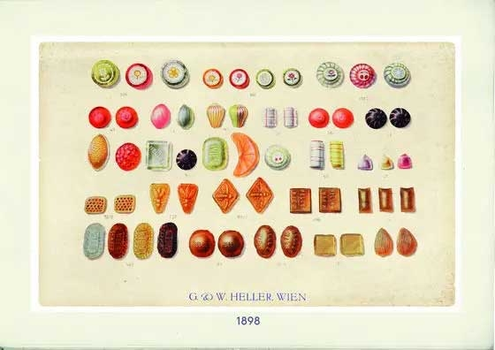 Bonbon Motive aus dem Original Heller Katalog von 1898